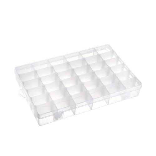 Коробка органайзер кейс для снастей бисера 275х175x40мм 36 ячеек