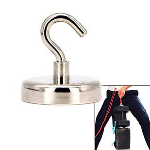 Магнит неодимовый поисковый с крючком 60x15мм N52 до 112кг