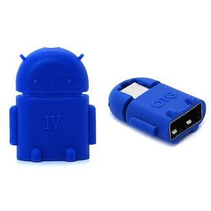 USB OTG адаптер переходник РОБОТ с MicroUSB на USB