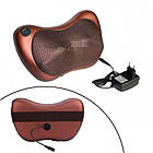Массажная подушка автомобильная с ИК-подогревом, 1 режим, массажер Шиацу, фото 2