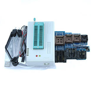 USB програматор MiniPro Xgecu Pro TL866II Plus і адаптери 10в1