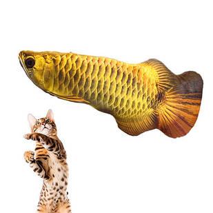 Мягкая игрушка рыба Арована 19см для кошек кота с кошачьей мятой