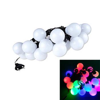 Гірлянда новорічна світлодіодна цветная Великі Кульки 20 LED ламп 5м