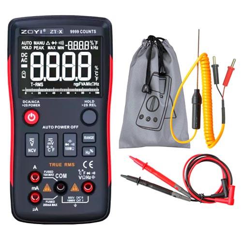 Мультиметр цифровий ZOYI ZT-X RM409B, автоматичний вибір, True RMS, 9999 відліків