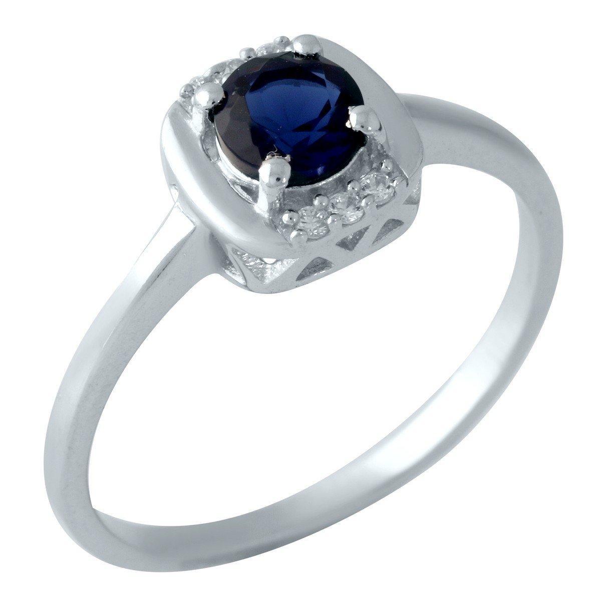 Серебряное кольцо DreamJewelry с сапфиром nano (1959251) 17.5 размер