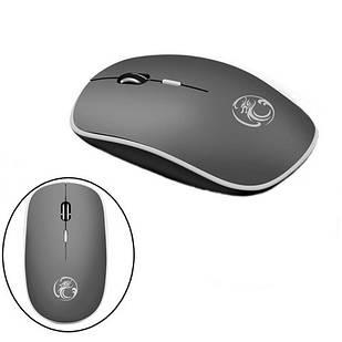 Беспроводная мышь мышка тихая плоская 1600dpi iMice G-1600, серая