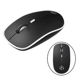 Беспроводная мышь мышка тихая плоская 1600dpi iMice G-1600, черная