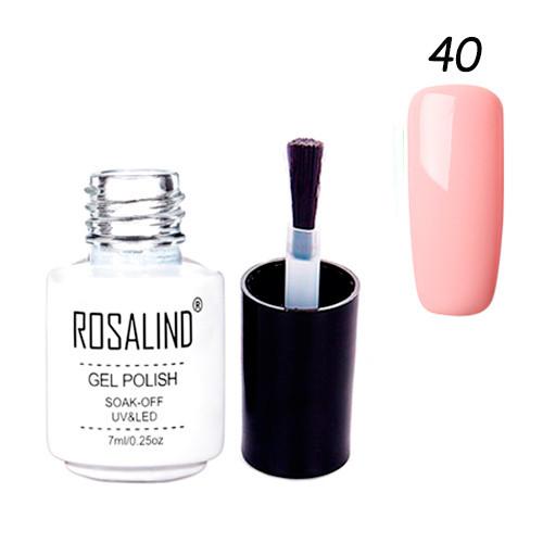 Гель-лак для нігтів манікюру 7мл Rosalind, шелак, 40 персиковий