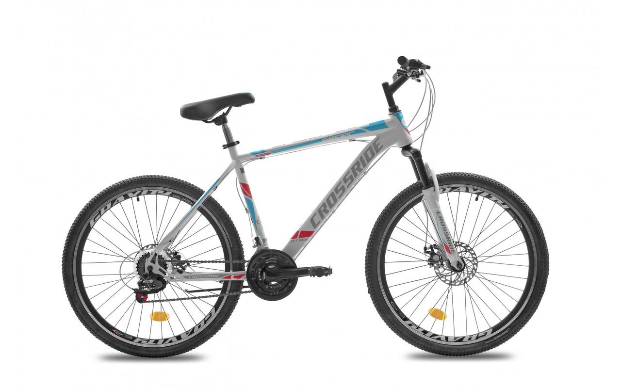 """Велосипед 26 МТВ ST CROSSRIDE """"SPIDER"""", сталь , 21 швидкість (білий, чорно-синій)"""