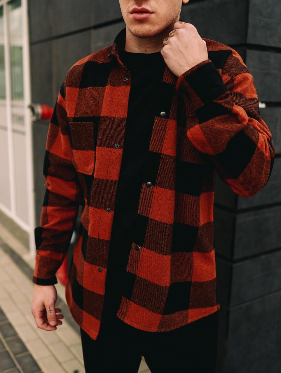 Чоловіча сорочка оверсайз байка з начосом