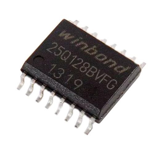 Чип W25Q128 W25Q128BVFG 25Q128BVFG SOP16 300mil, 128Мб Flash SPI