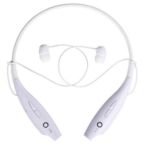 Наушники беспроводные Bluetooth гарнитура HBS-730 с шейным ободом, белые