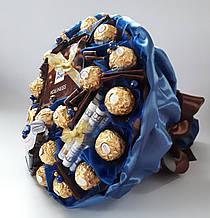 Букет из конфет мужчине Мистер Икс солидный мужской букет