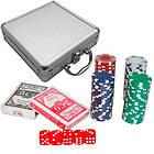 Набор для покера в чемодане: карты, 100 фишек, кубики, покерный, фото 2