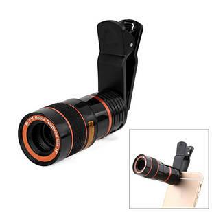 Съемный универсальный 8x обьектив-прищепка телефона, телескоп