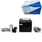 Термопринтер POS чековый принтер USB+LAN с автообрезкой XP-Q200 80мм, фото 3