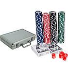 Набор для покера в чемодане: карты, 200 фишек, кубики, покерный, фото 2