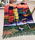 Кашемировый теплый шарф палантин  Cashmere 107028 Зеленый, фото 2