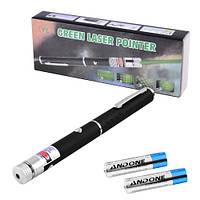 Фонарь-лазер зеленый 803-1, 1 насадка, 2xAAA