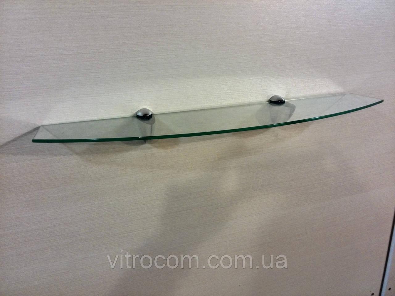 Полка стеклянная фигурная 4 мм прозрачная 53 х 15 см