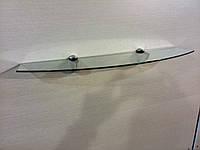 Полка стеклянная фигурная 4 мм прозрачная 53 х 15 см, фото 1