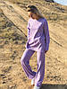 Р. 42-48 Женский брючный трикотажный костюм с разрезами по бокам, фото 5