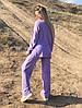 Р. 42-48 Женский брючный трикотажный костюм с разрезами по бокам, фото 2