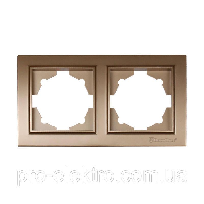 Рамка двойная (роскошно золотой) EH-2201-LG