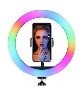 Подсветка и вспышка светодиодная для селфи, круглая лампа Led, Selfie кольцо для фото, набор блогера MJ20 RGB