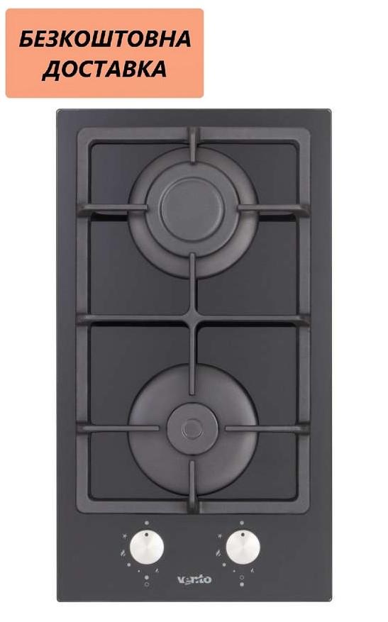 Варочная поверхность встраиваемая Ventolux HSF320G CS (BK) 3 Газовая на стекле, Черная