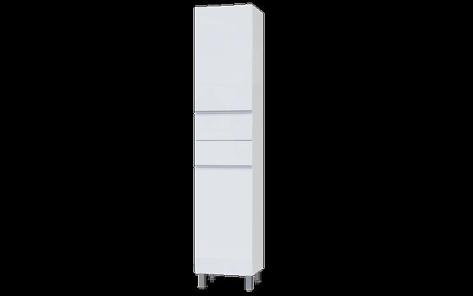 LARGO Пенал 40 підлоговий (Білий) з кошиком, фото 2