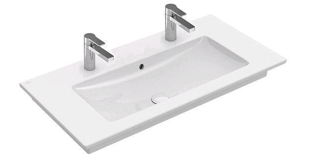 4104AK01 Venticello мебельная раковина central basin, Angular, для 2 смеситель на 1 отверстие, tap h