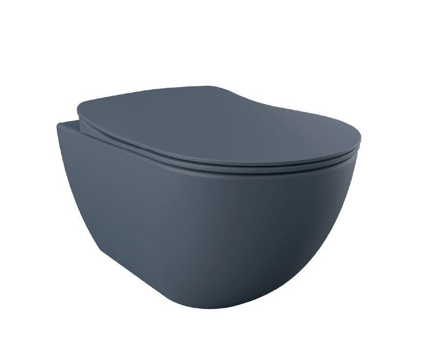 FREE Унитаз подвесной (базальт матовый) FE320.20100, без сидения
