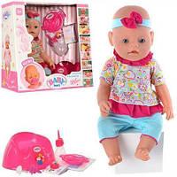 Пупс кукла baby born, 9 функций, 2 соски