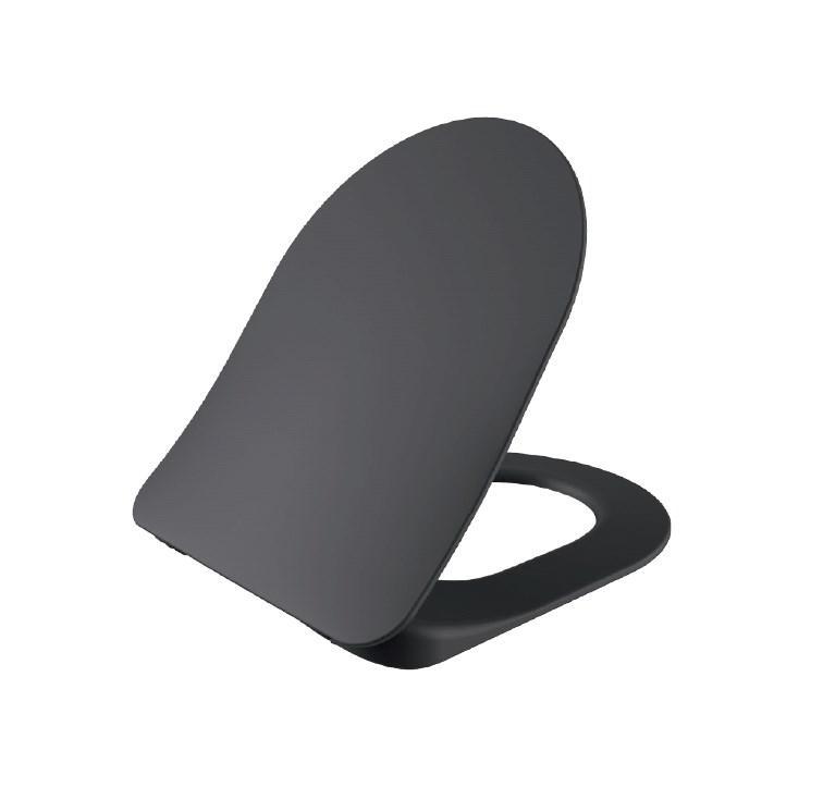 FREE Кришка з сидінням Duroplast, з механізмом soft-close, чорна матова