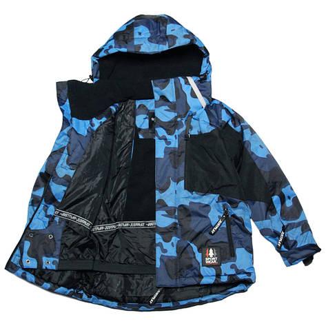 Зимняя термокуртка мембранная для мальчика 140-170 рост Just Play синяя, фото 2