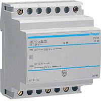Трансформатор на  DIN-рейку, 230В/24 В (1,04А), 230В/12 В (2,08А), 4м Hager