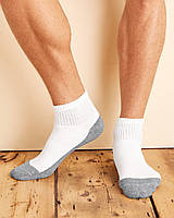 Шкарпетки Gildan Ankle Socks(Упаковка 6 пар) White Grey