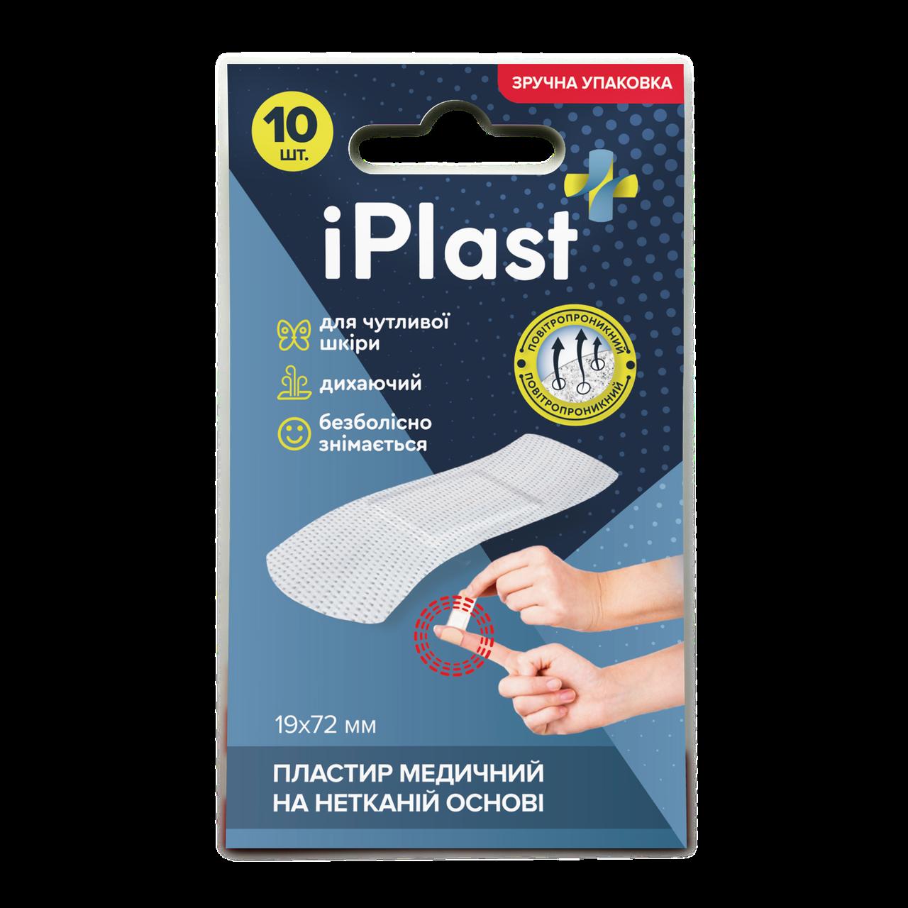Пластырь Медицинский на нетканой основе IPlast (Dr.Frei) (19x72 мм, 10шт)