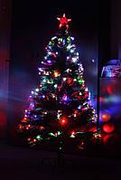 Светящаяся светодиодная оптоволоконная елка 150 см, 7 режимов