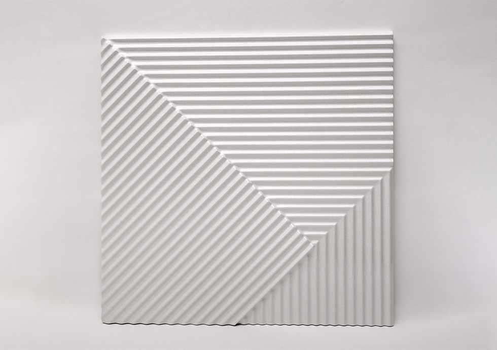 Гипсовые 3D панели Lines Premium White 500*500*28 мм