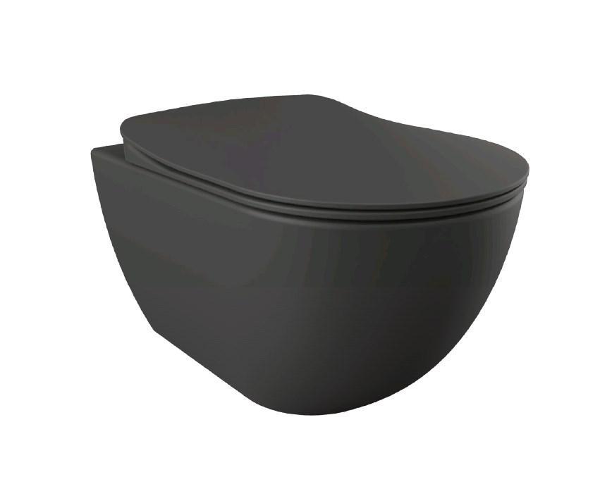 FREE Унитаз подвесной (антрацит матовый) FE320.60100 Без Сидения