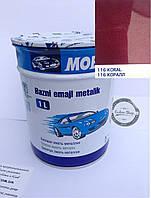 Базовая эмаль (металлик, UNI) MOBIHEL 116 - КОРАЛЛ, 1л