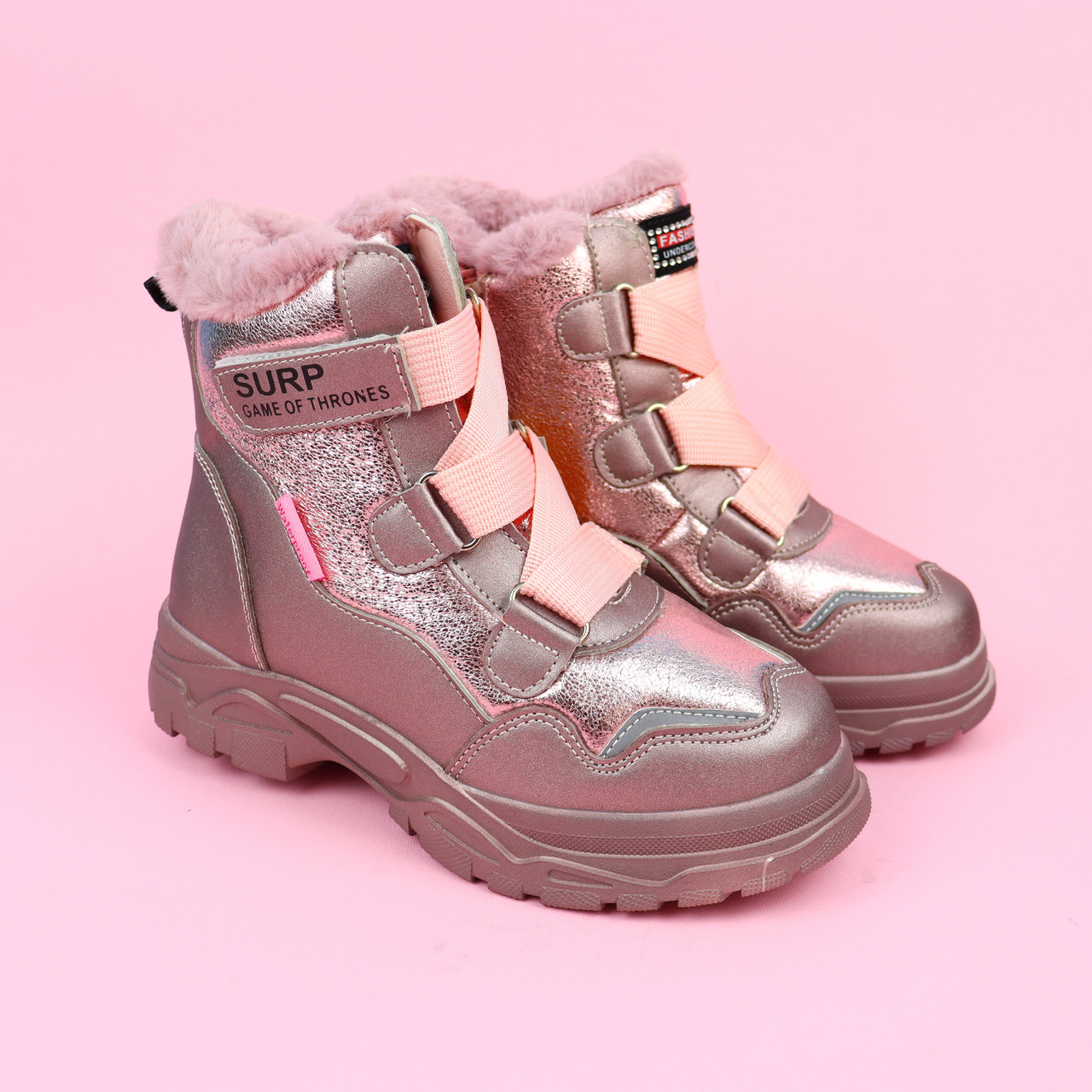 Розовые термики ботинки для девочки тм Том.м размер 36,37,38