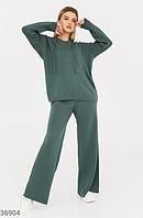 Зеленый костюм со свободным кроем UN, фото 1