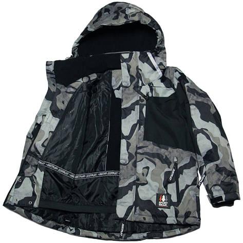 Зимняя термокуртка мембрана для мальчика 152-158 рост Just Play хаки милитари, фото 2