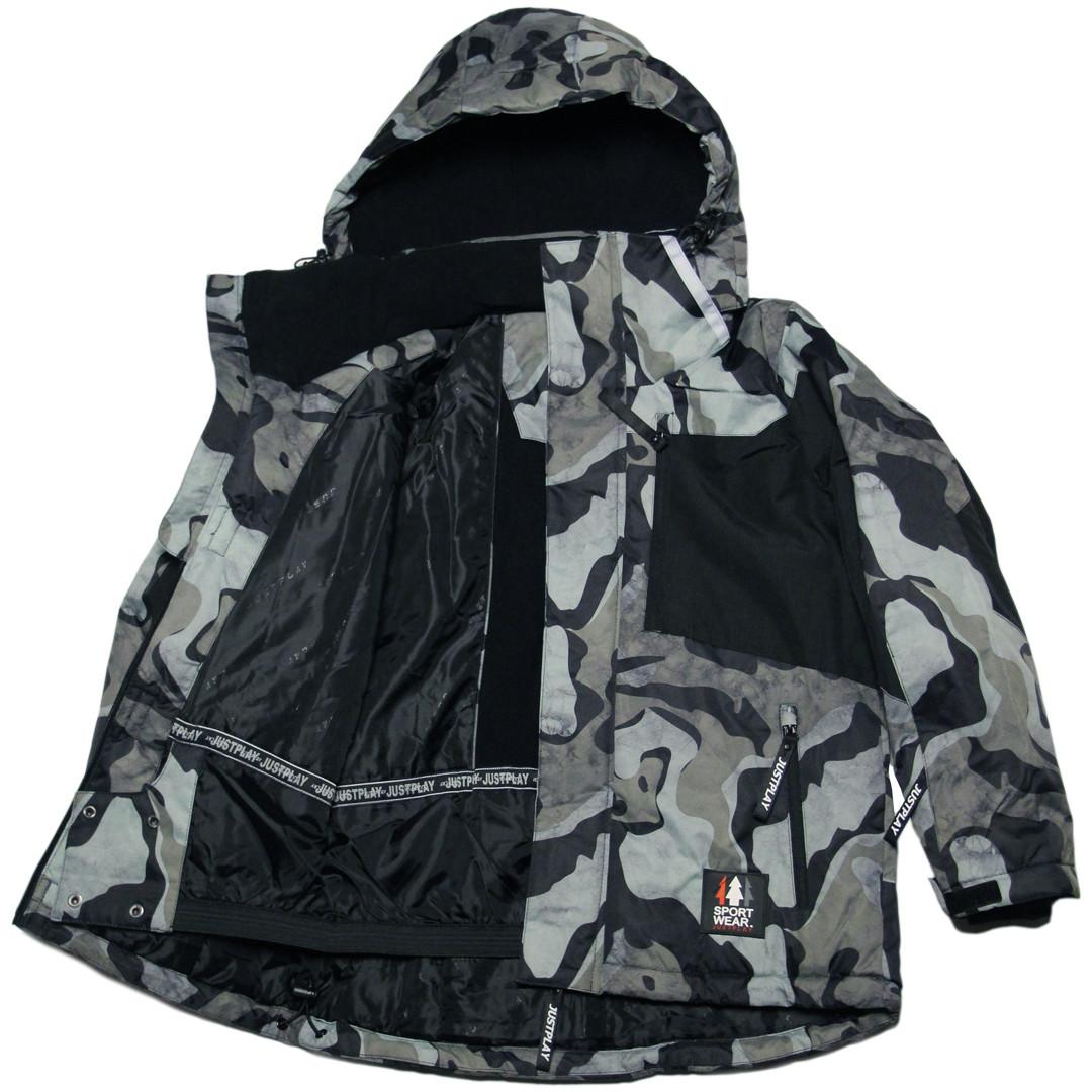 Зимняя термокуртка мембрана для мальчика 152-158 рост Just Play хаки милитари