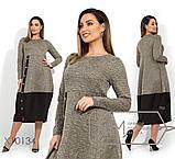 Платье футляр миди демисезонное батал, по распродаже, разные цвета р.50,52 Код Олбери, фото 3