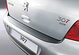 Пластикова захисна накладка на задній бампер для Peugeot 307 3/5 dr hatch 2001-2009, фото 2