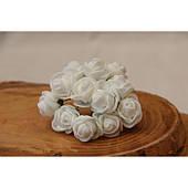 Розы 2,0 см , белые        144 шт